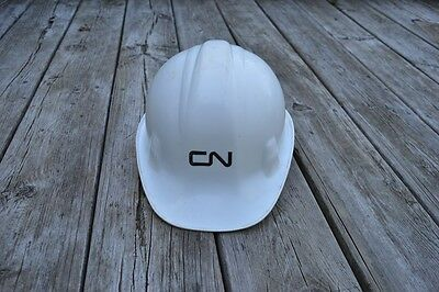 CN Canadian National Railway Railroad White Safety Hard Hat