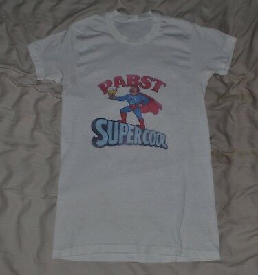 Vintage 70's Penney's Towncraft PABST Beer Blue Ribbon T-Shirt thin 50/50 36