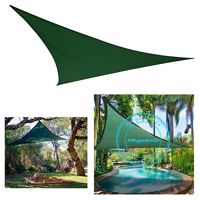 3M Triangular Sun Shade Sail Awning Canopy Outdoor Shelter Pool Beach Anti-UV
