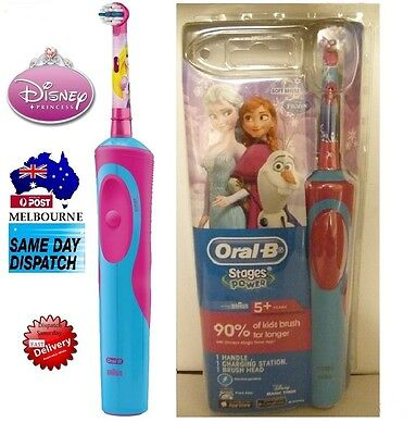 Oral-B Stages Power Vitality FROZEN Electric Rechargeable Toothbrush 5 y+Kids