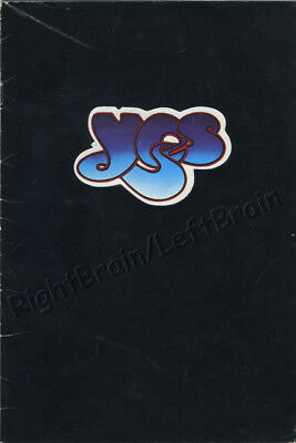 YES 1973 Tales From Topographic Oceans Tour UK Concert Program Programme Book