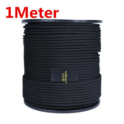 8mm Elastic Bungee Rope Shock Cord Tie Down Security Escape Rescue Ropes Black