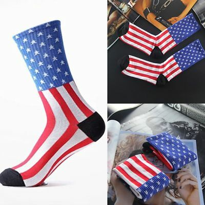 Women Ankle Old Crew Unisex Star American Fashion Glory Casual Socks USA Flag