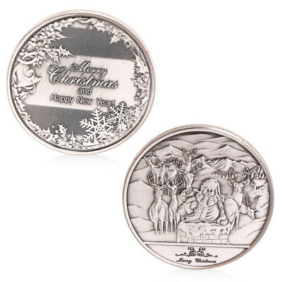 Happy New Year And Merry Christmas Commemorative Coin Collectible Collection Hot