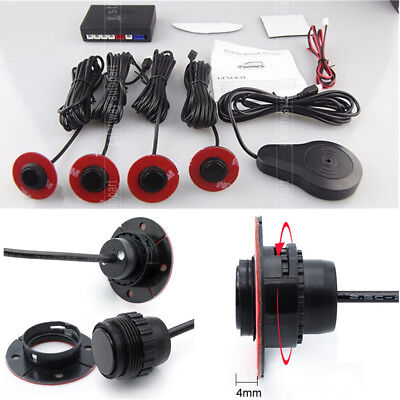 Parking Aid System 4 Car Backup Sensors Radar Security Alarm Kit Beep Buzzer New