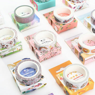 Paper Washi Masking Adhesive Tapes Album Diary Scrapbook Decoration DIY Craft