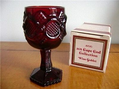 Vintage Avon 1876 Cape Cod Collection Wine Goblet-NEW IN BOX-FREE SHIPPING