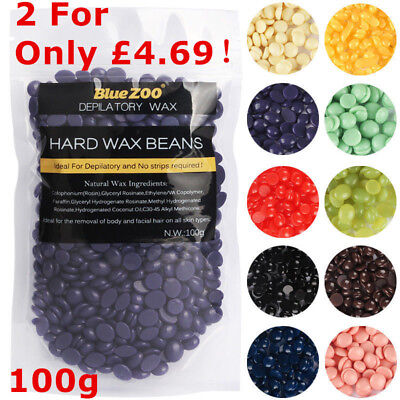Wax Depilatory Hard Wax Pellet Beans Waxing Hot Body Bikini Hair Removal 100g UK