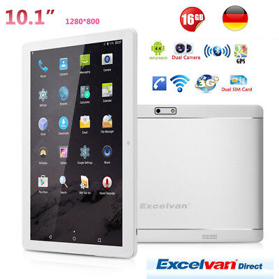 "Excelvan 10,1"" Tableta PC Android 6.0 Quad Core 16GB WiFi GPS 3G 2Cámara Phablet"