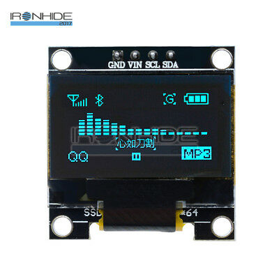 "Blue 0.96"" 128X64 OLED I2c IIC Serial LED LCD Display Module for Arduino"