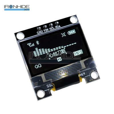 "White 0.96"" I2C IIC Serial 128X64 128*64 OLED LCD LED Display Módulo for Arduino"