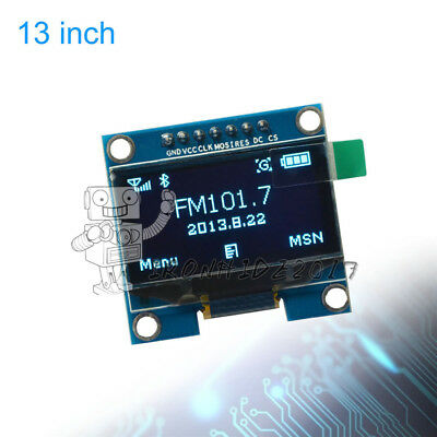 Blue 1.3'' SPI Serial 128X64 OLED LCD Display Screen Modul for Arduino UNO R3 51