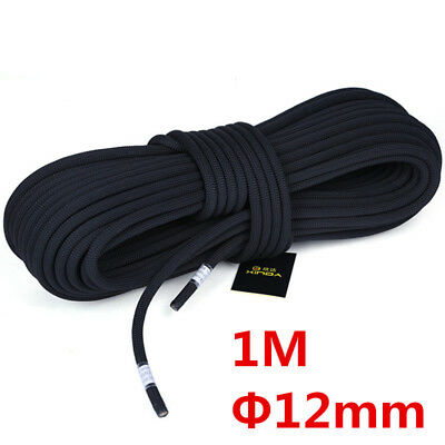 12MM Static Elastic Bungee Rope Team Climbing Roping Ropes Workout  Ropes Black
