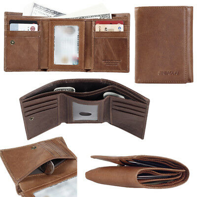 Trifold Classic Men's Wallet Leather Money Purse Credit Cards Package photo Slot
