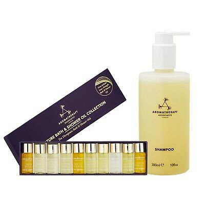 Aromatherapy Associates Set Miniature Bath Shower Oil Collection with Shampoo
