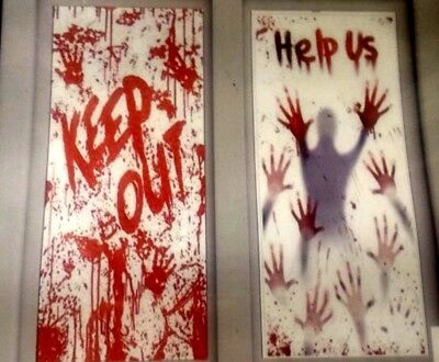 2  halloween door wall cover decoration party blood scary horror