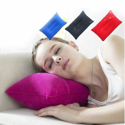Home Outdoor Folding Air Inflatable Pillow Double Sided Flocking Cushion Hotel