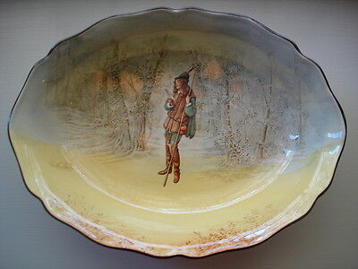 ANTIQUE VINTAGE PORCELAIN CHINA ROYAL DOULTON ROSALIND SHAKESPEARE lge OVAL BOWL