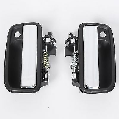 Pair Set Chrome Outside Exterior Front Left Right Door Handles For 95-04 Tacoma