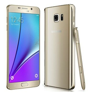 Brand New Samsung Galaxy Note 5 GOLD Lte 32GB Unlocked Smart Phone