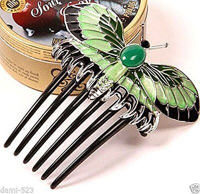 New Titanic Heroine Rose Dress Nice Butterfly Comb Replica Hairpin Hairpiece US