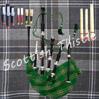 Great Scottish Bagpipe Black Color Half Set With Tutor Book/dudelsack/gaita
