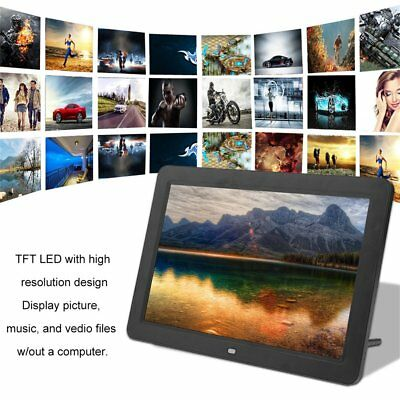 12in 1280*800 HD TFT LED Wide Screen Muitifunctional Digital Photo Frame US BP