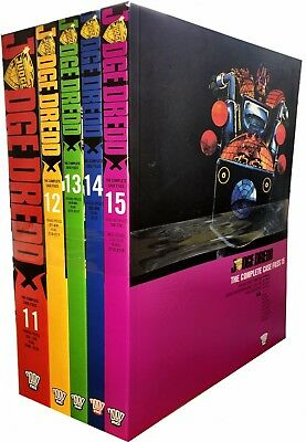 Judge Dredd: Complete Case Files Volume 11-15 Collection 5 Books Set (Series 3)