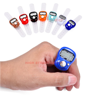 Digital Finger Counter, Ring Tally Counter, Hand Held Knitting Row CLICKER