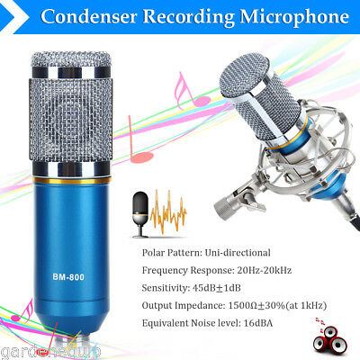 BM-800 Condenser Microphone Studio Sound Recording Cardioid Mic with Shock Mount