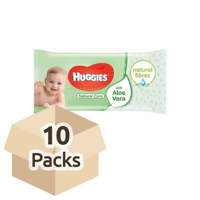 Huggies Natural Care Baby Wipes - Carton - 10 Packs of 56 Wipes