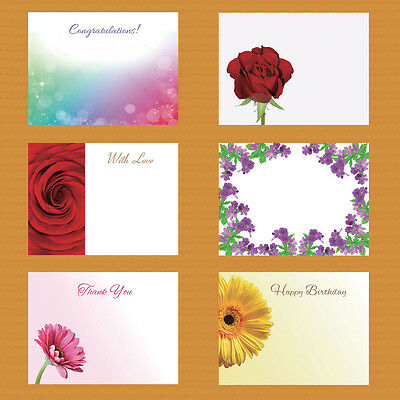 50 x Florist Flower Message Cards Sympathy Baby Happy Birthday Thank You