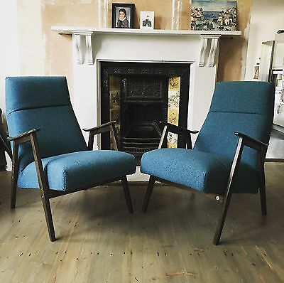 Czech Mid Century Lounge Chairs X 2