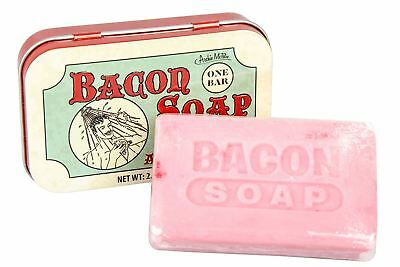 Bacon Scented Soap in a Tin Gag Prank Gift Bath Shower Accessory Joke Novelty
