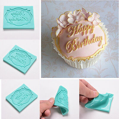 Silikon-Kuchen Fondant Mold Dekorieren Schokolade Backform Happy Birthday