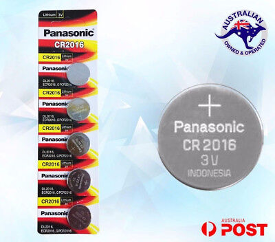 PANASONIC CR2016 3v CR 2016 lithium Battery button cell Brand new EXP 12/2026