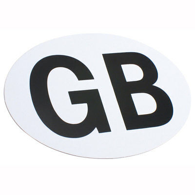 Motorcycle GB Sticker Self-Adhesive White UK Seller