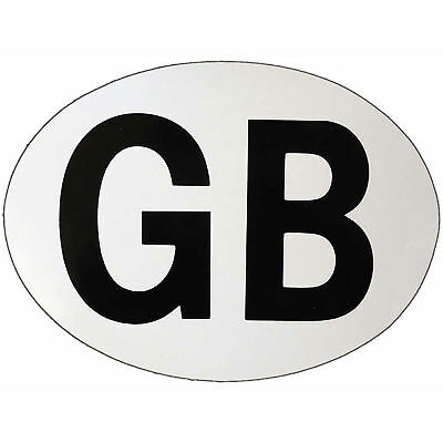 Motorcycle GB Sticker Magnetic White UK Seller