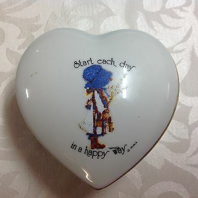 Holly Hobbie designers collection heart shaped trinket box