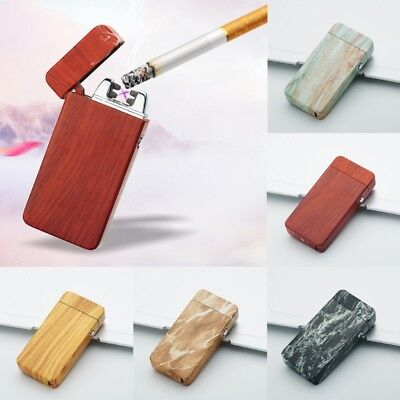 Fashion Rechargeable Cigarette Lighter Windproof USB Dual Electric Arc Flameless