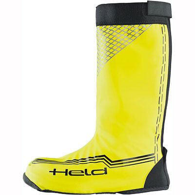 Motorcycle Held 8757 Boot Skin Overboots Long WP - Yellow Neon UK Seller