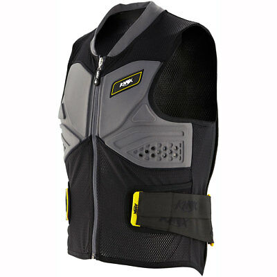 Motorcycle Knox Track Vest - Black Grey UK Seller