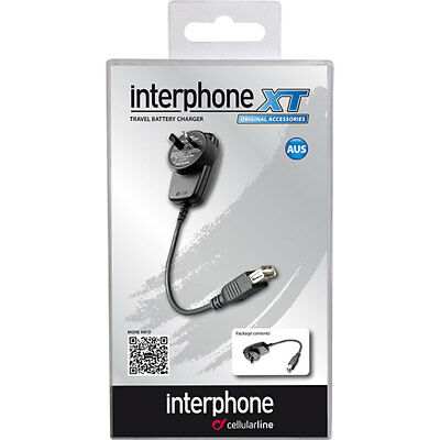 Motorcycle Interphone Wall Charger XT - Black UK Seller