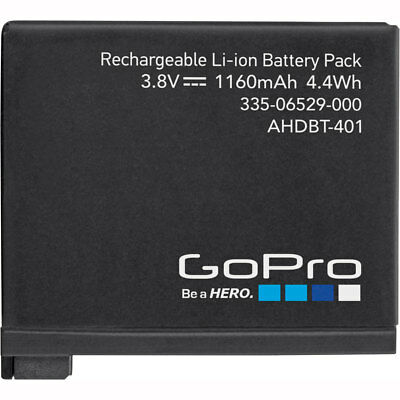 Motorcycle GoPro Hero 4 Rechargeable Battery - Black UK Seller