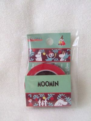 Moomin Little Vally LEAF paper tape washi tape red 15mm x 10