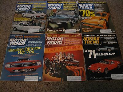VINTAGE LOT OF 6 MOTOR TREND MAGAZINES from 1969