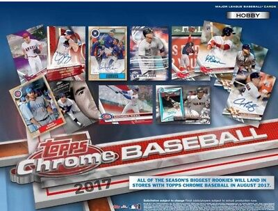 2017 Topps Chrome Refractors, You Pick, Complete Your Set, Mint