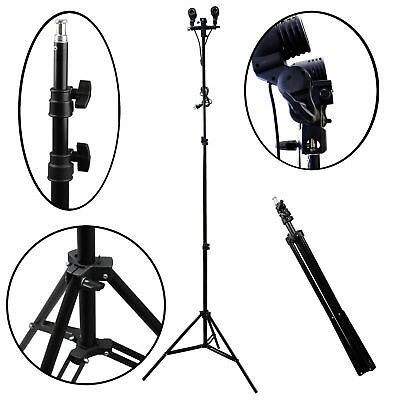 7Feet Height Adjustable Ring Light Bracket Camera Phone Tripod Stand Holder BS