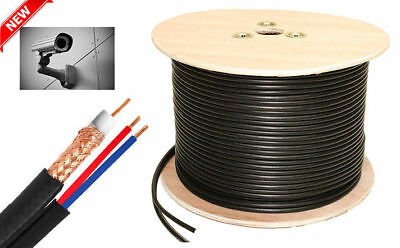 305M Shotgun Copper CCA RG59/U Plus 2 Core Power CCTV Coaxial Coax Reel RF Cable