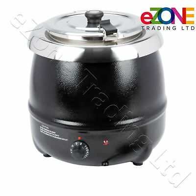 ATOSA 10L Commercial Catering Soup Kettle Gravy Pot Warmer Heater Black Electric